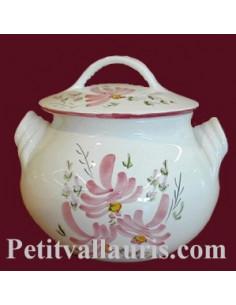 Poubelle de table décor fleur rose