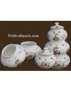 Conservateur Ail, Oignon, Echalotte décor Tradition Vieux Moustiers polychrome