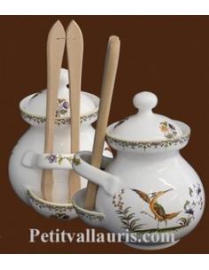 Pot à cornichons décor Tradition Vieux Moustiers polychrome
