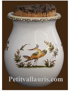 Pot à herbes de provence décor Tradition Vieux Moustiers polychrome