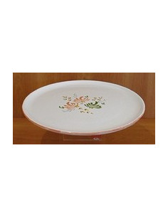 Vire Omelette décor Fleuri orange et vert 27.5 cm