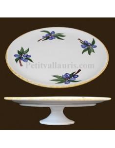 Vire Tourne Omelette décor Olive bleue 26.5 cm