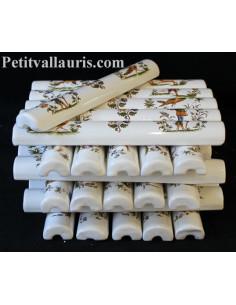 Listel en faience modèle large décor de Tradition Vieux moustiers polychrome