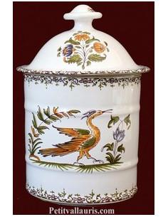 Pot de Salle de bain modèle Uho n°1 Décor Tradition Vieux Moustiers polychrome
