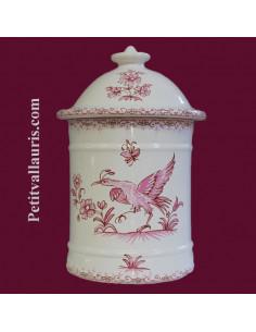 Pot de Salle de bain modèle Uho n° 2 Décor Tradition Vieux Moustiers rose