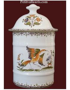 Pot de Salle de bain modèle Uho n° 2 Décor Tradition Vieux Moustiers polychrome