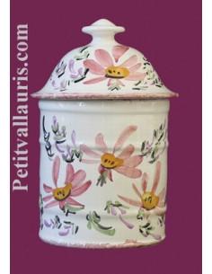 Pot de Salle de bain modèle Uho n°1 Décor Fleuri rose