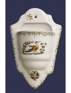 Support fleur Colombarium décor Tradition Vieux Moustiers polychrome