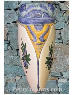 Cigale faïence céramique décor provençal olives bleues (T.4)