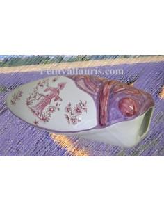 Cigale faïence céramique décor Tradition Vieux Moustiers rose (T.5)
