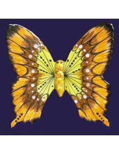 Papillon en céramique à suspendre marron et orange