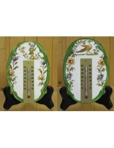 Thermomètre mural décor Tradition Vieux Moustiers polychrome