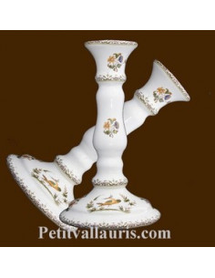 Chandelier en faïence décor Tradition Vieux Moustiers polychrome