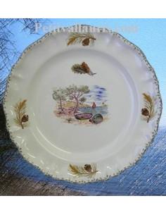 Assiette modèle Louis XV décor Provençal, Calanque et Pin