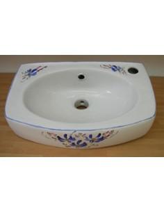 Lave-main modèle Ulysse décor Fleurs bleues