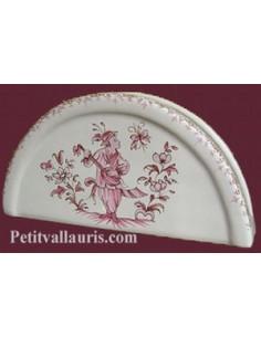 Porte serviette de table décor Tradition Vieux Moustiers rose
