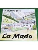 Plaque texte et décor personnalisé pour votre maison décor village montagne texte noir