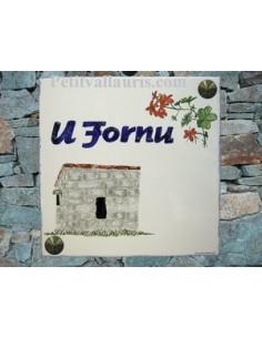 Plaque texte et décor personnalisé pour votre maison décor four a pain en granit texte bleu