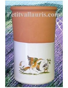 Brique à vin rafraichisseur décor 2214 Tradition Vieux Moustiers Polychrome