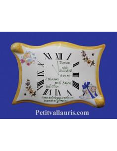 Horloge - Parchemin souvenir de naissance Garçon orange