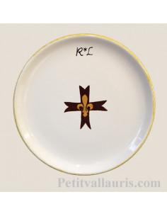 Assiette plate simple texte et décor personnalisé