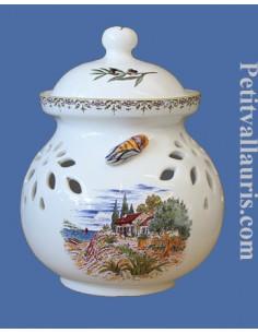 Pot à moutarde jarre décor Paysage Provençal