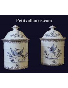 Pot de Salle de bain modèle Uho n° 1Décor Tradition Vieux Moustiers bleu