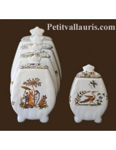Pot de cheminée festonné décor Tradition Vieux Moustiers polychrome taille 1