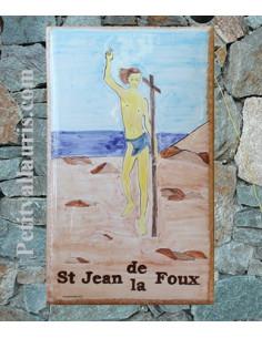 Plaque de maison forme rectangle décor Saint André