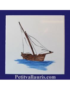 Carrelage décor Tartane 20 x 20 cm