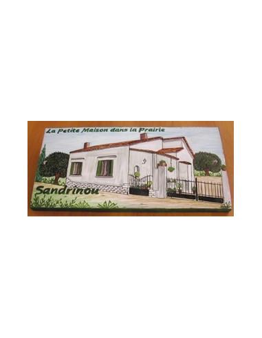 Plaque de Maison rectangle décor personnalisé maison modèle client dans le var