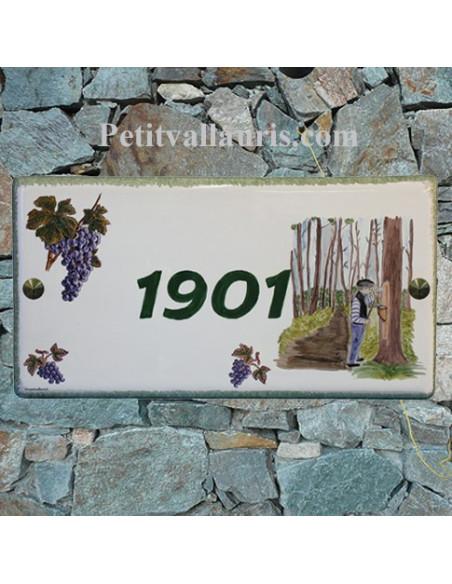 Plaque de maison décor Résinier dans les Landes