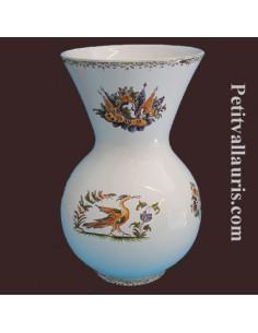 Vase Nadine Taille 1 en faïence décor Tradition Vieux Moustiers polychrome