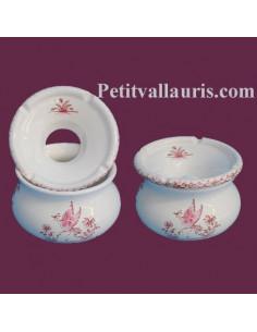 Cendrier anti-fumée petit modèle décor Tradition Vieux Moustiers rose