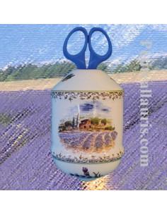 Distributeur de ficelle couleur provençale décor Champs de lavande