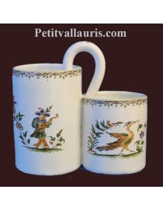 Ramasse couverts décor Tradition Vieux Moustiers polychrome