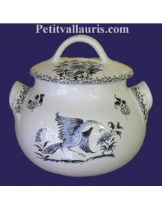 Poubelle de table décor Tradition Vieux Moustiers bleu