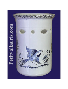 Porte ustensile cuisine ajourée décor Tradition Vieux Moustiers bleu