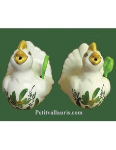 Distributeur de ficelle Cocotte décor fleur verte et ciseaux