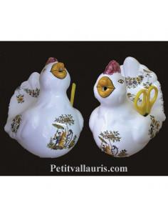 Distributeur de ficelle Cocotte décor Tradition Vieux Moustiers polychrome
