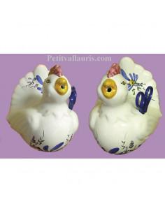 Distributeur de ficelle Cocotte décor fleur bleue et ciseaux