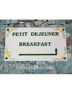 Fresque décorative rectangulaire décor Petit déjeuner Breakfast