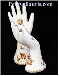 Théière en faïence décor Tradition Vieux Moustiers polychrome