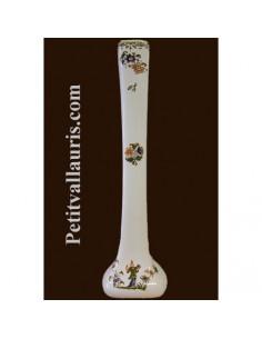 Soliflore droit en faïence décor Tradition Vieux Moustiers polychrome