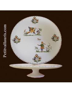 Vire Omelette décor Tradition Vieux Moustiers polychrome 26.5 cm