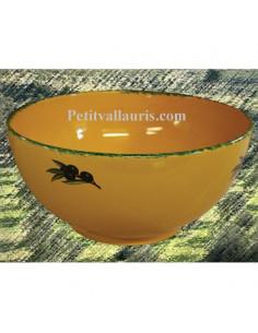 Saladier décor Provençal Olives noires
