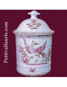 Pot de Salle de bain modèle Uho n°1 Décor Tradition Vieux Moustiers rose