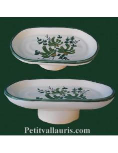 Porte savon modèle Anneau décor Fleur verte
