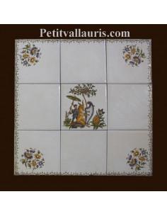 Fresque décorative 30 x 30 cm décor Tradition Vieux Moustiers