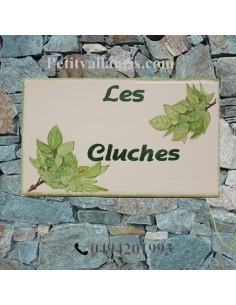 Plaque pour votre maison en faïence décor Coqueluche de La Réunion